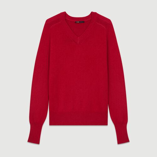 Pull oversize in lana e cachemire : Maglieria colore Lampone