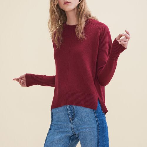Pullover in cashmere : Pullover e cardigan colore Bordeaux