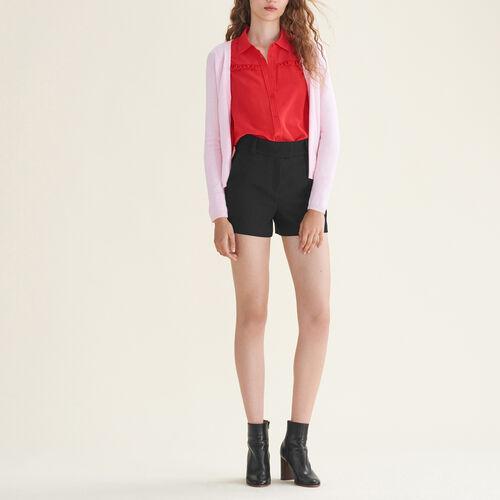 Cardigan con zip laterali : Pullover e cardigan colore Nero