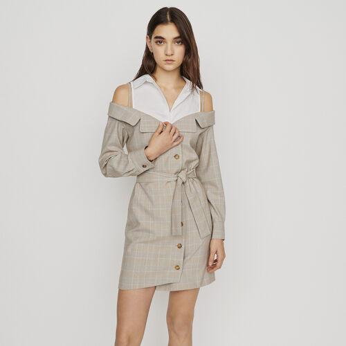 Vestito corto trompe l'œil : New in : Collezione Estate colore CARREAUX