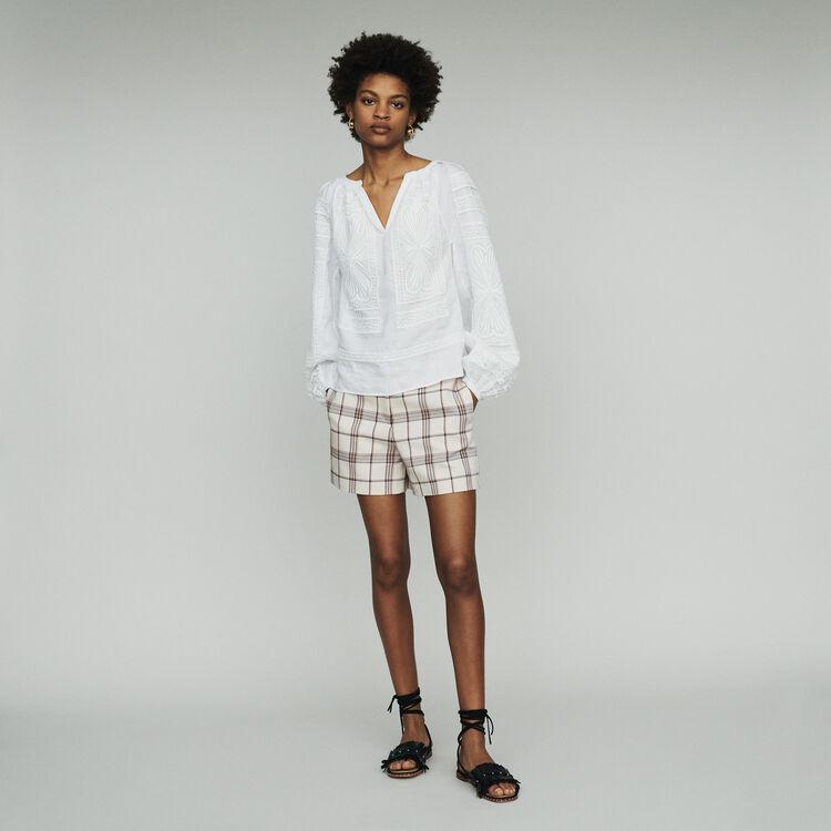 Blusa con pizzo : Tops e Camicie colore Bianco