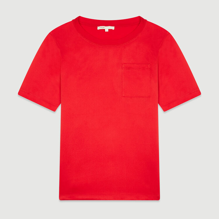 Tee-shirt bimateriale : T-Shirts colore Rosso