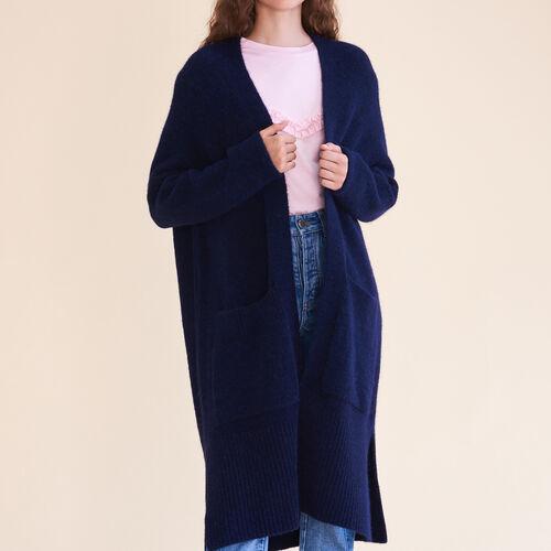 Cardigan lungo oversize : Pullover e cardigan colore Caramello