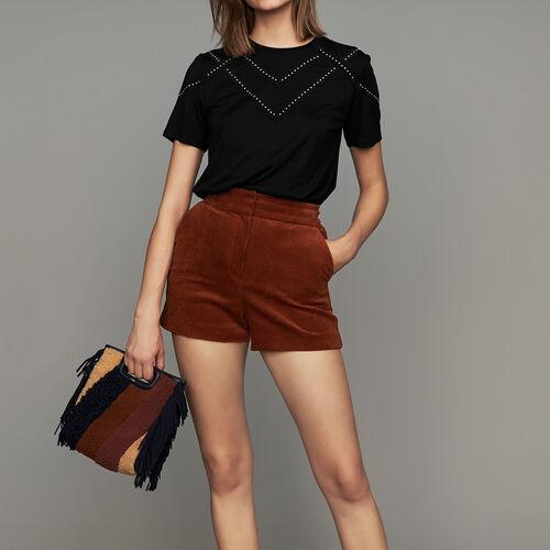 Pantaloncini in velluto a coste : Gonne e shorts colore Caramello