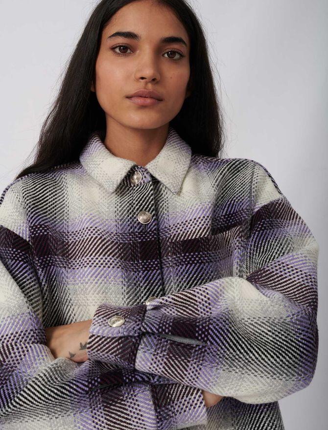 Giubbotto stile giacca a quadri - eco-sostenibile - MAJE