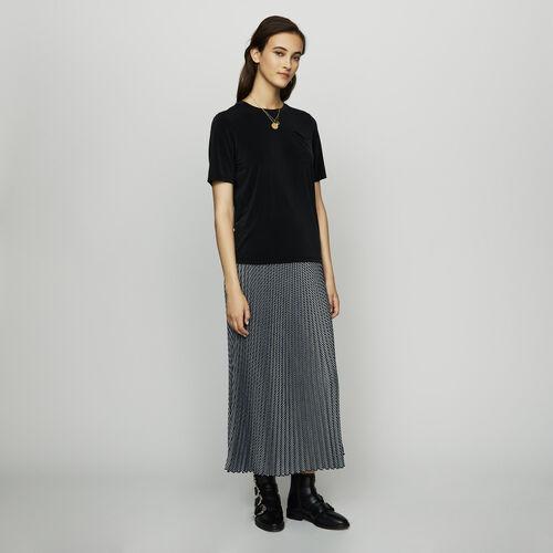 T-shirt in cupro - T-Shirts - MAJE