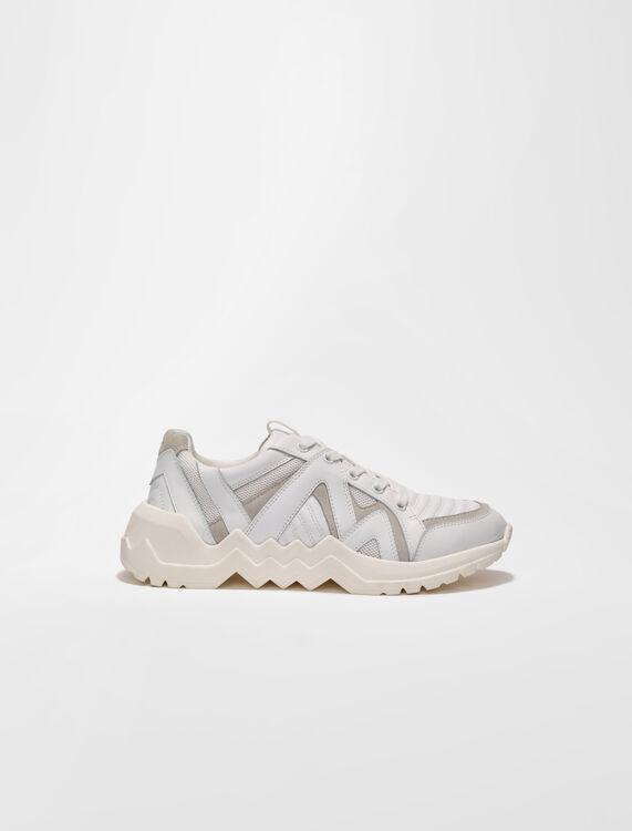 Sneaker in pelle con suola a carrarmato - Sneakers - MAJE