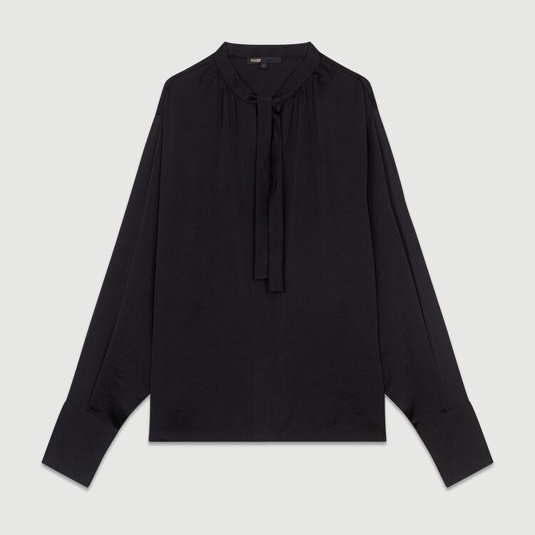 Blusa in crêpe : Nuova Collezione colore Nero