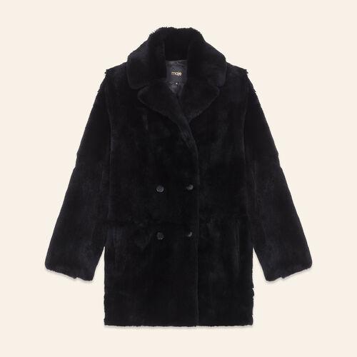 Cappotto in coniglio : Cappotti colore Nero