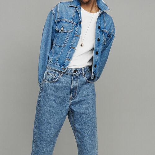 Giacca di jeans corta : Urban colore Denim