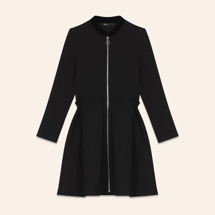 Abito con zip : Prêt-à-porter colore Nero