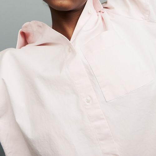 Camicia oversize in jeans : Tops colore Rosa Tenue
