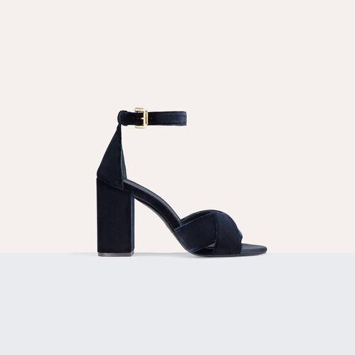 Sandali con tacco scamosciati - Scarpe - MAJE