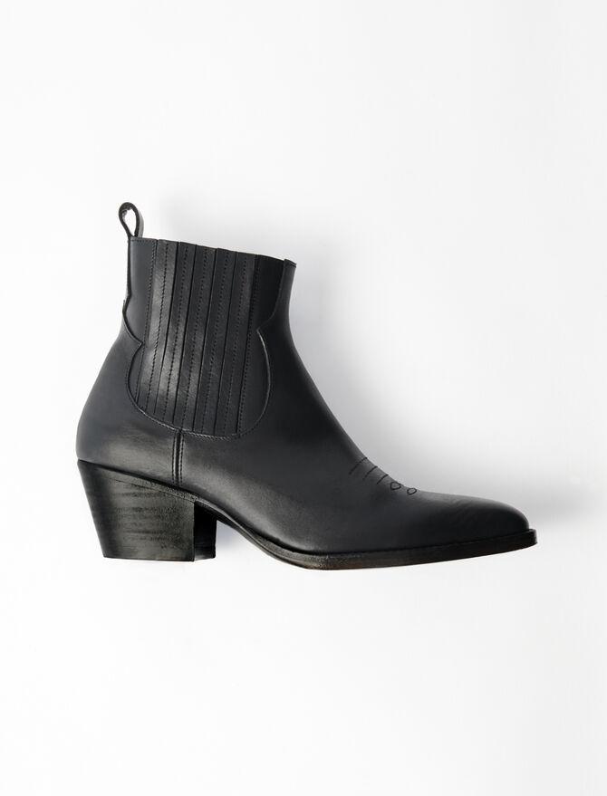 Leather Cowboy Boots - Tutte le scarpe - MAJE