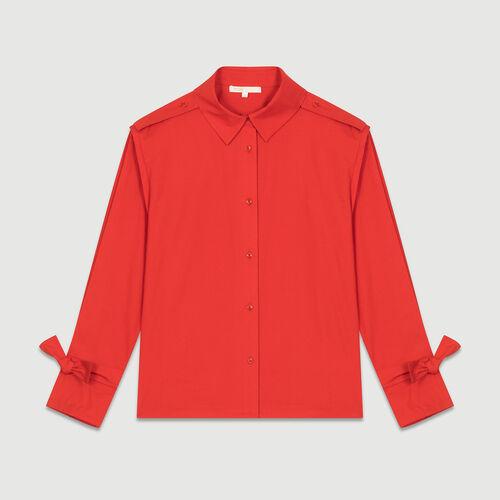 Camicia con dettagli lavorati : Camicie colore Rosso