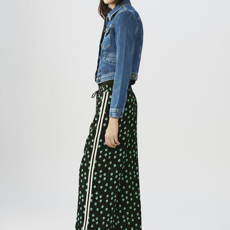Pantaloni loose stampati : Pantaloni colore IMPRIME