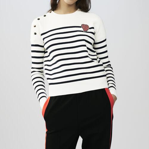 Maglia stile marinaro in cotone : Pullover e cardigan colore Bicolore