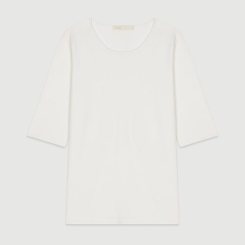 Pull in maglia con maniche corte : Pullover e cardigan colore Bianco