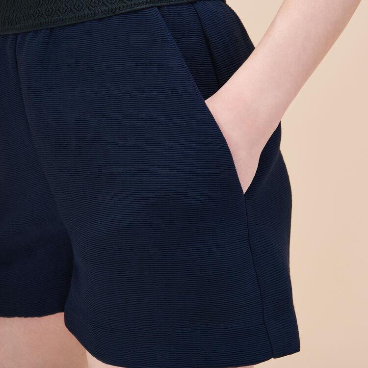 Short corto in tessuto ottoman : Basso Prezzo colore Blu Marino