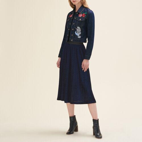 Gonna longuette plissettata : Gonne e shorts colore Blu Notte