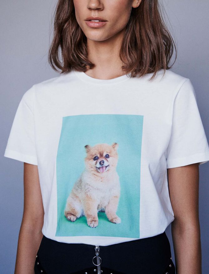 Printed t-shirt - T-Shirts - MAJE
