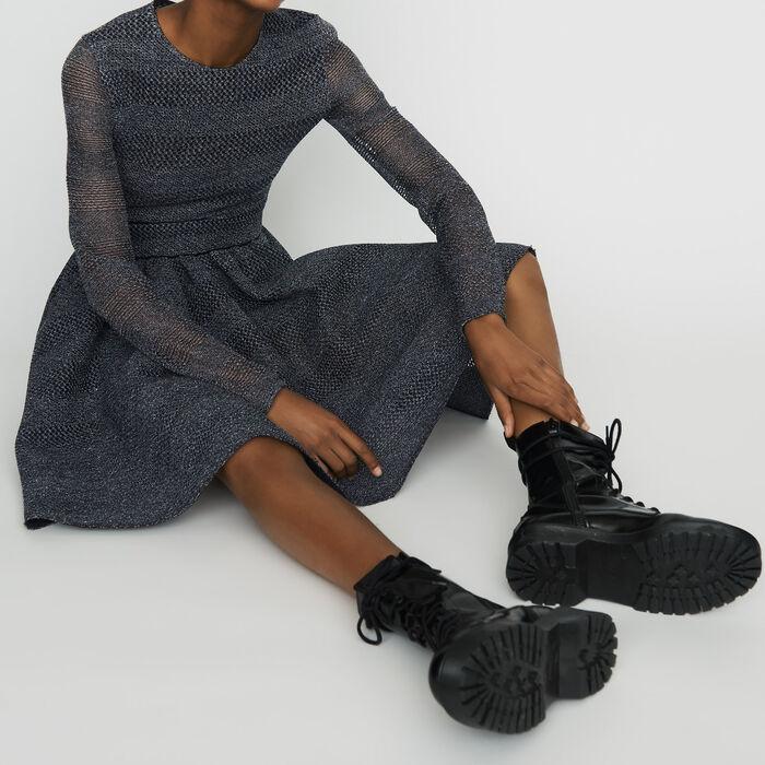Vestito pattinatrice in tessuto tecnico : Vestiti colore Grigio