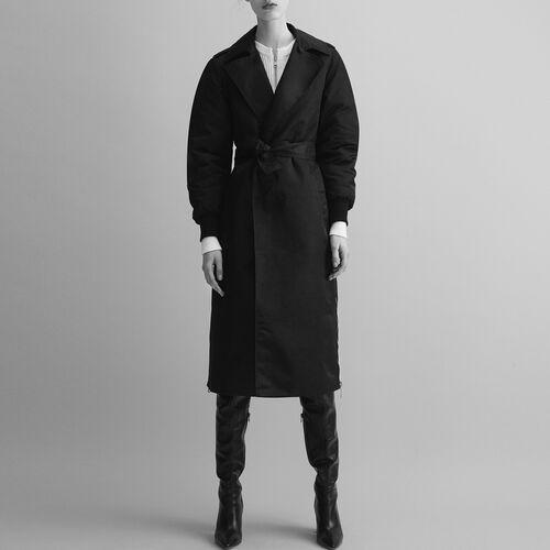 Trench con zip laterali : Cappotti colore Nero