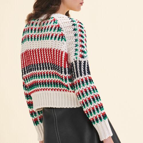 Pullover in maglia fantasia multicolore - Maglieria - MAJE