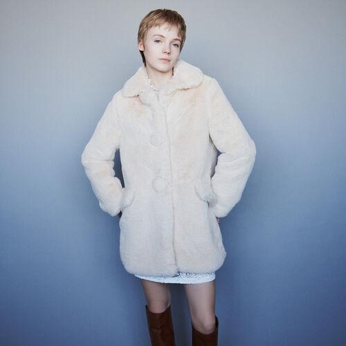Cappotto in eco pelliccia : Campagna FW19 colore Nude