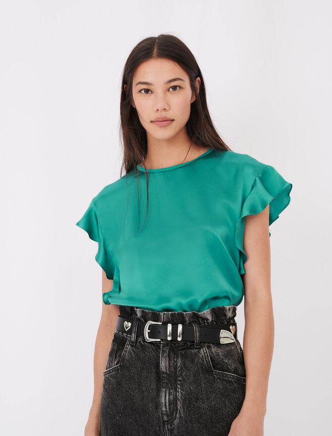 T-shirt senza maniche a volant - T-Shirts - MAJE
