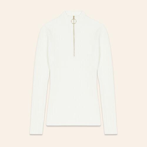 Pullover sottile in maglia stretch. : Pullover e cardigan colore Ecru