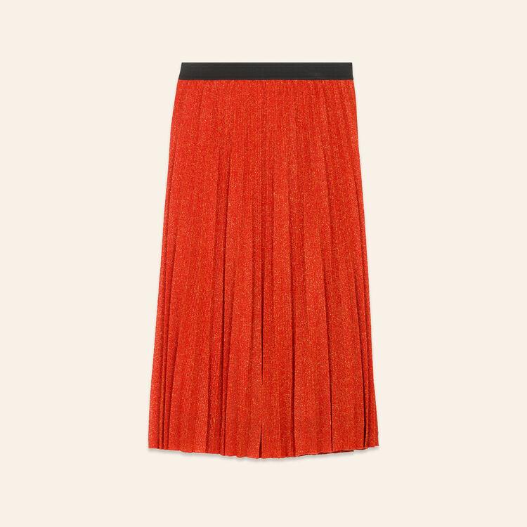 Gonna plissettata in maglia di lurex - Gonne e shorts - MAJE