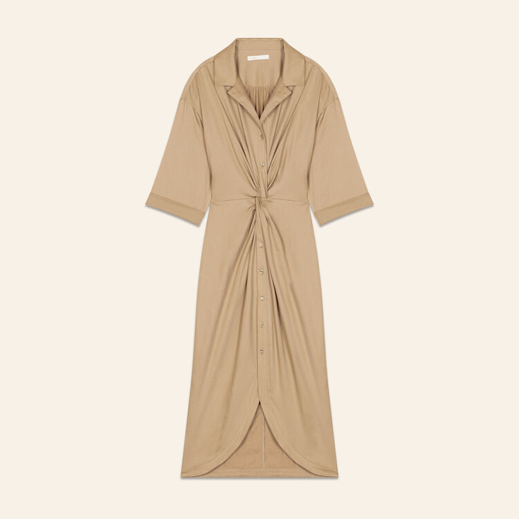 Scamiciato con drappeggio : Vestiti colore BEIGE SABLE