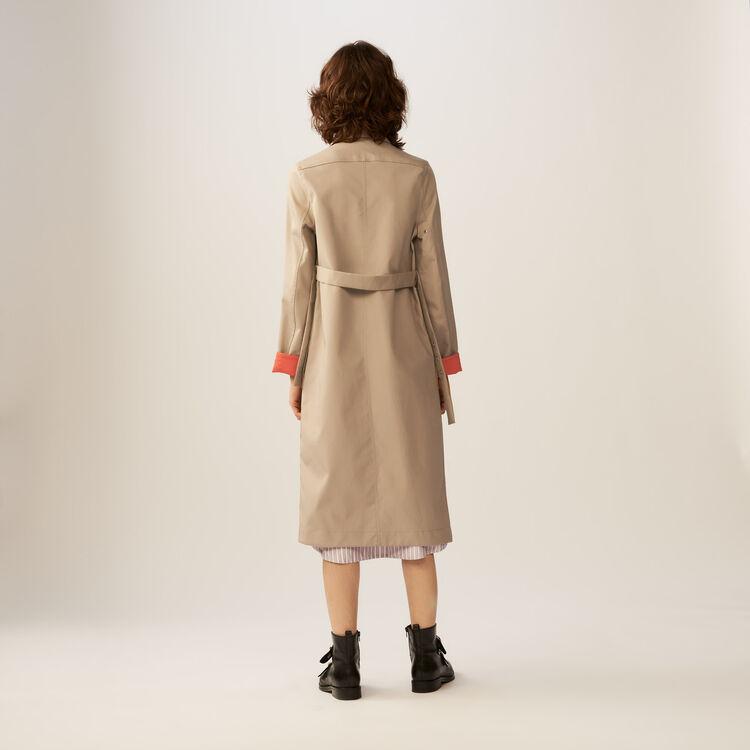 Trench reversibile bicolore : Cappotti colore Beige