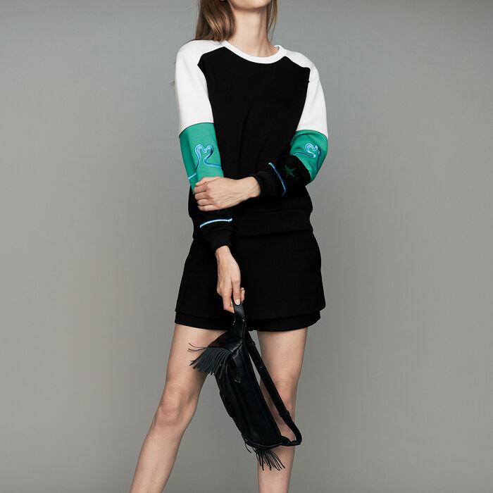 Felpa multicolore stile Neoprene : Sweatshirts colore Multicolore