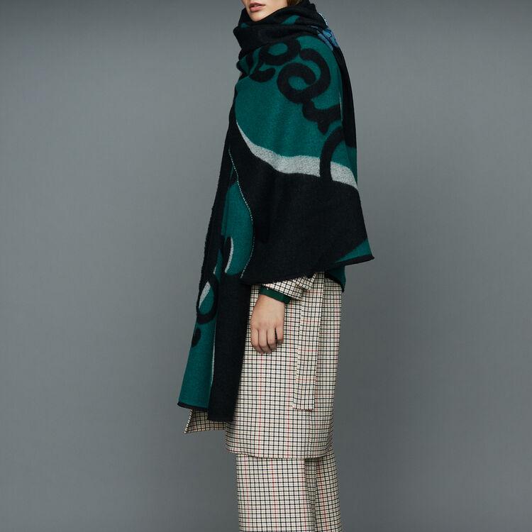 Sciarpa stampata in cachemire : Scialli & Poncho colore Nero