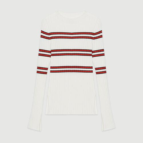 Pull fine in maglia rigata : Pullover e cardigan colore A Righe