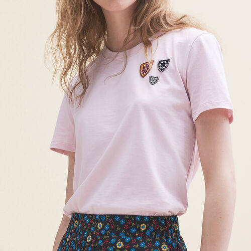 T-shirt basic in cotone : T-shirts colore Rosa