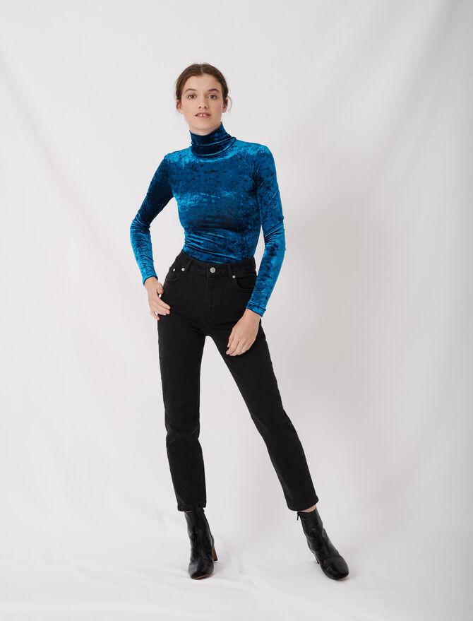 Jeans dritti a vita alta stile mom - eco-sostenibile - MAJE