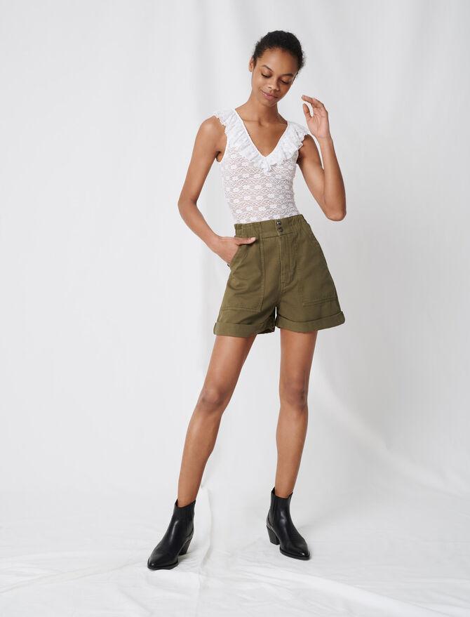 Short kaki in tela di cotone - Gonne e shorts - MAJE
