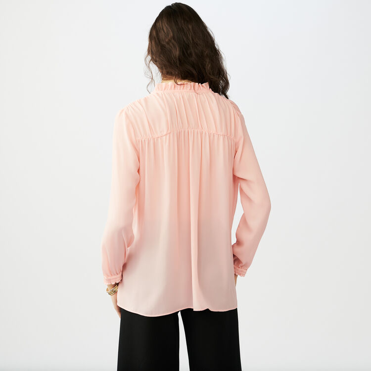 Blouse shirt with drawstring : Camicie colore Rosa