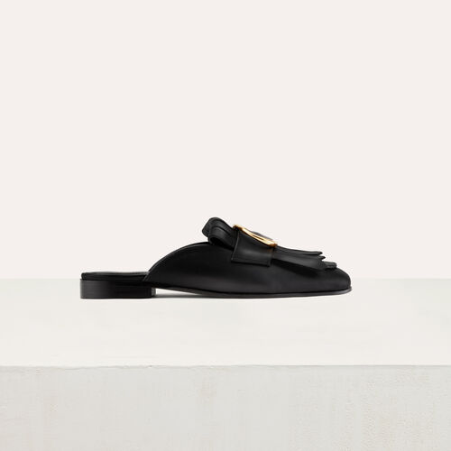 Mocassin slipper with buckle : Scarpe colore Nero