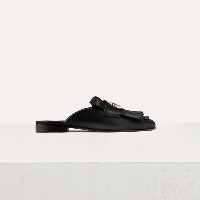 Mocassin slipper with buckle : Scarpe colore Nero