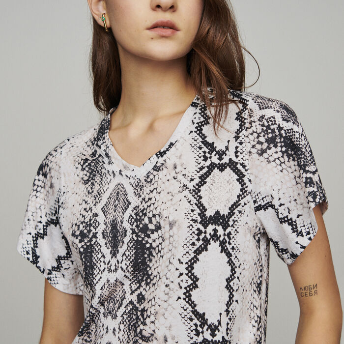 Tee-shirt pitonata : T-Shirts colore IMPRIME