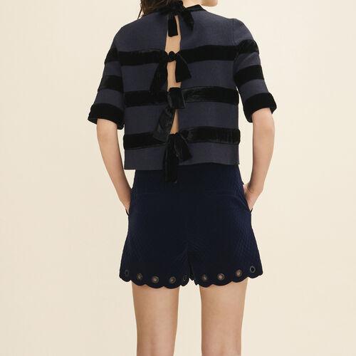 Pullover in maglia rigida : Pullover e cardigan colore Blu Marino