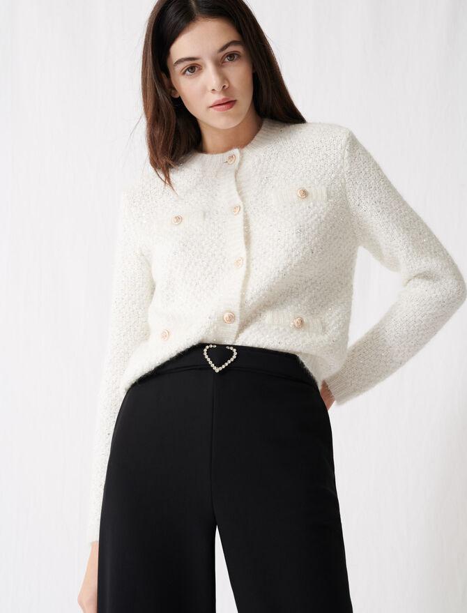 Cardigan scintillante a maniche lunghe - Pullover e cardigan - MAJE