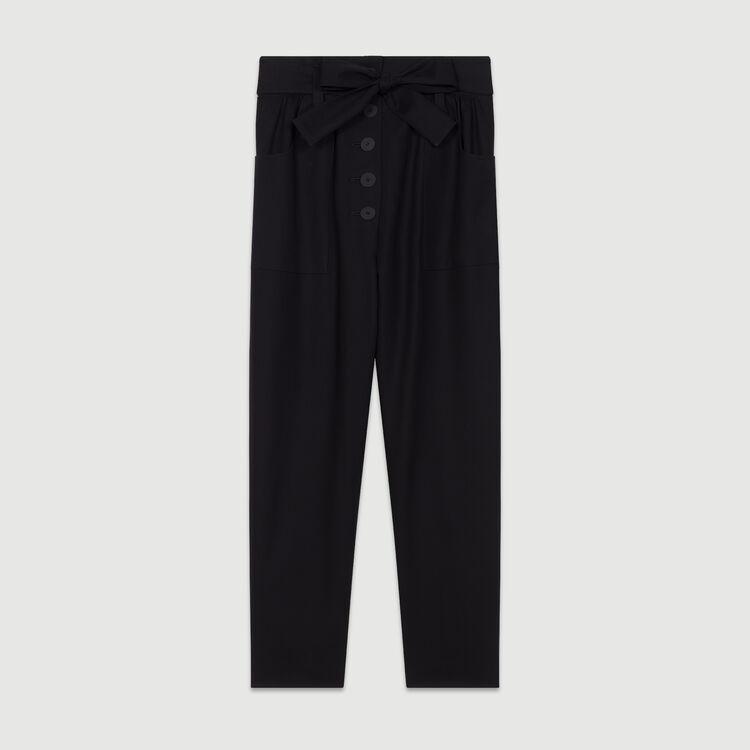 Pantalone largo a vita alta : Nuova Collezione colore Nero