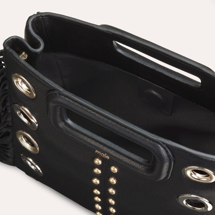 Borsa M in pelle con borchie : Borse M colore Nero