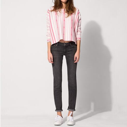Jeans slim in cotone stretch : Pantaloni & jeans colore Grigio