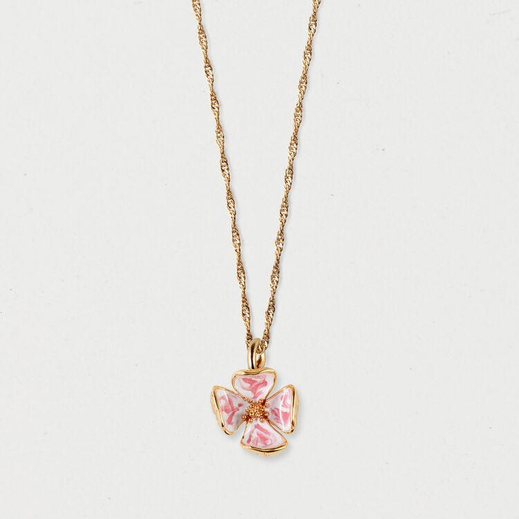 Collana fiore rosa : Gioelli colore OR